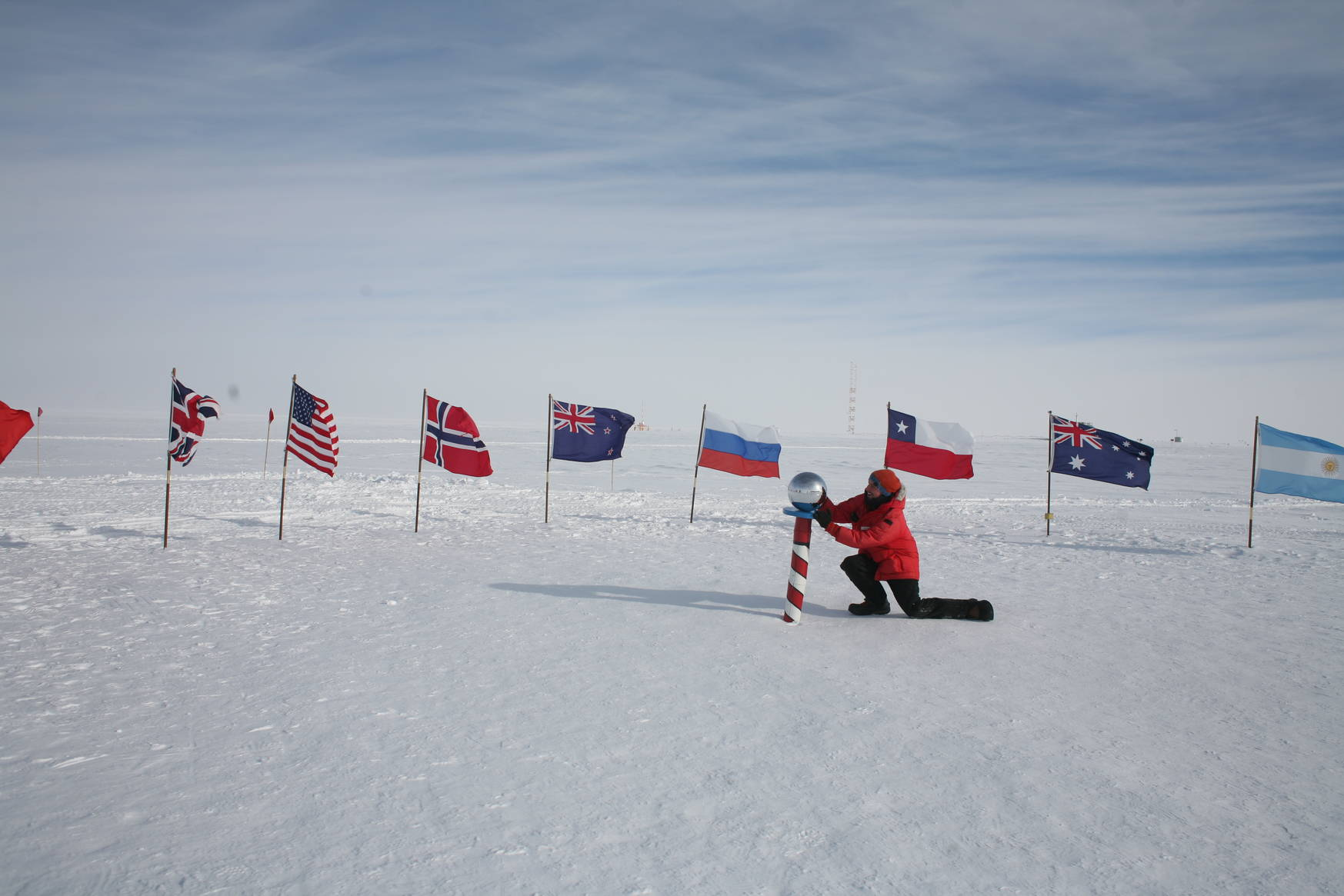 The ceremonial south pole.