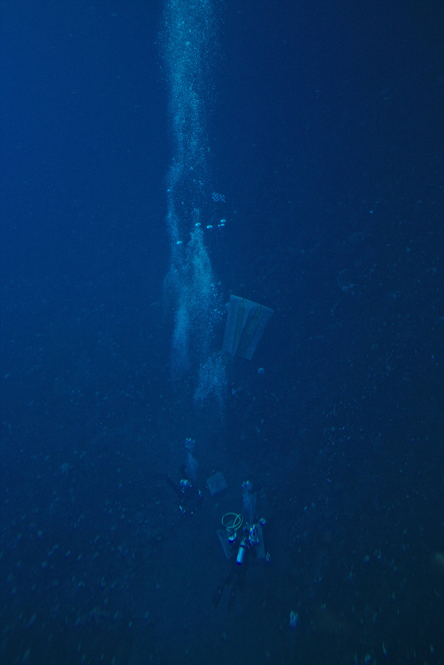 View of the divers from the obs tube